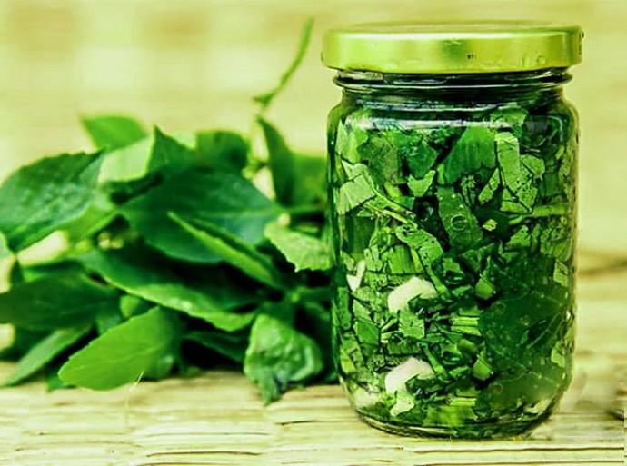 Приготовление зелени